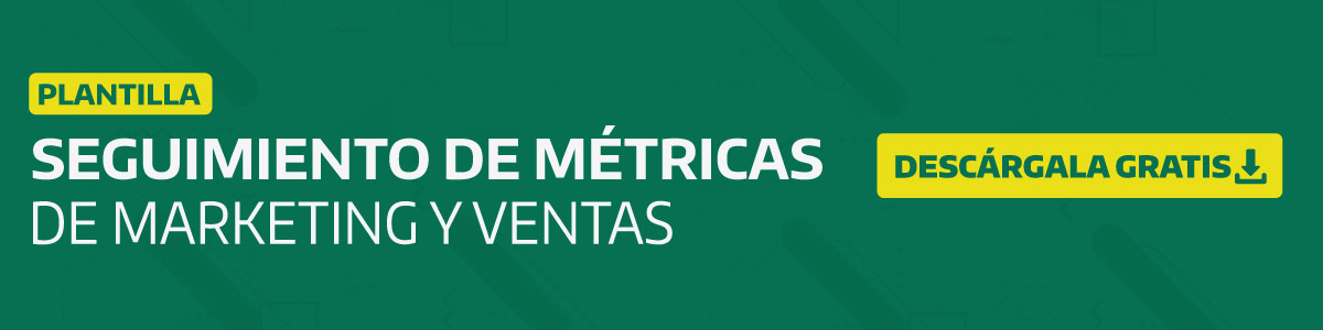 plantilla para metricas de marketing y ventas