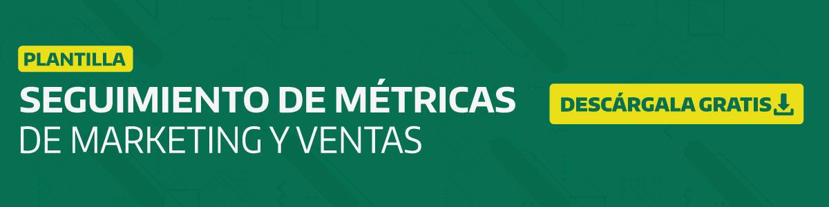 plantilla para metricas de marketing y ventas